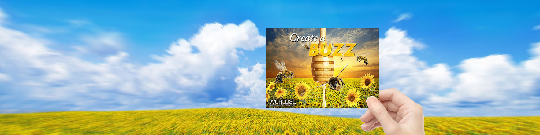 Create a Buzz - Lenticular Printing on Background